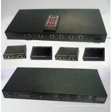 Extendeur Matrix HDMI 100m 4X4 par Cat6e avec 3D et IR