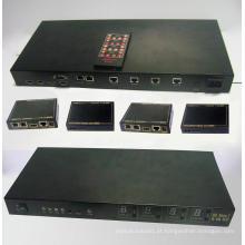 Extensor de Matriz HDMI 100x 4X4 da Cat6e com 3D e IR