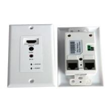30m HDMI sur UTP double câble (Cat5e/6) plaque murale Extender