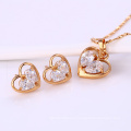 61971-Xuping Wholesale Imitation Jewelry Woman Jewelry Set with 18K Gold Plated