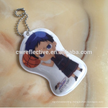 advertising customized basketball reflective keychain for teams