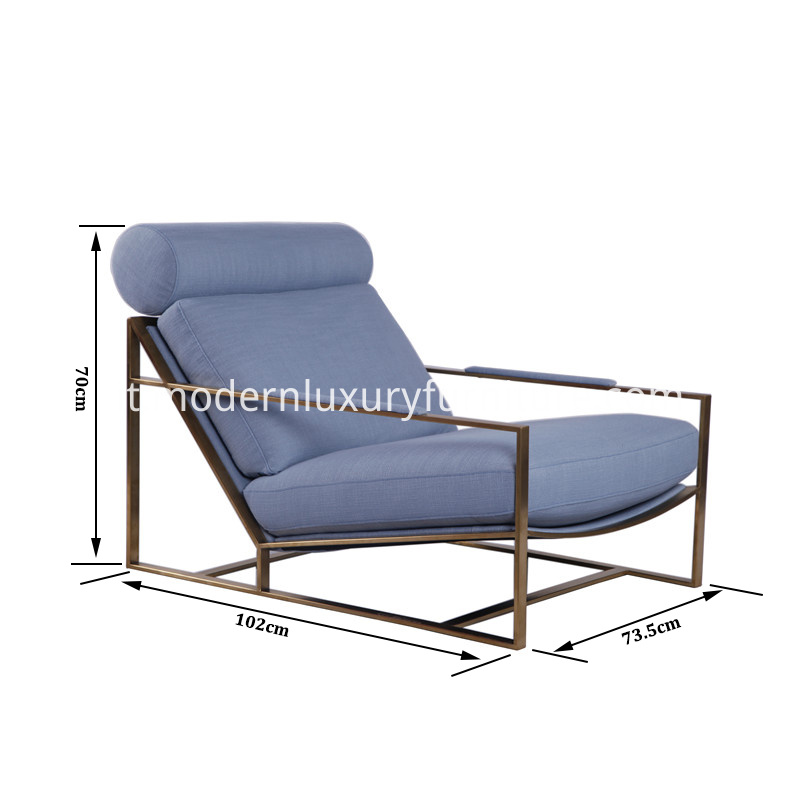 Milo lounge chair size