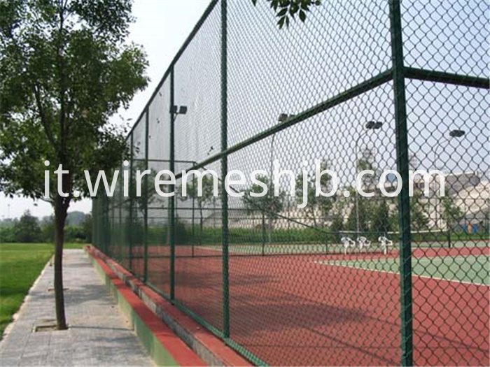 Green Chain Link Fence