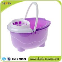 Squeeze Plastic Mop Bucket Wringer with Wheels