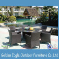 Patio Rattan Dining Table and Chair Furniture