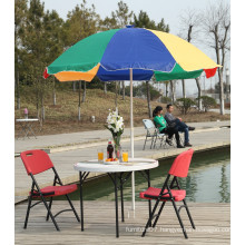 94cm White Plastic Folding Round Table for Leisure, Coffee, Beer