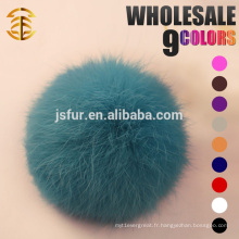 Accessoires de mode fourrure en peau de lapin vert Accessoires d'habillement en véritable lapin naturel ou coloré