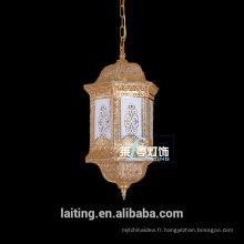 Éclairage pendentif indien en cristal indien bon marché de lustre pour le salon