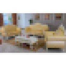 Sofá de couro para móveis de madeira para casa (929U)