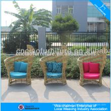 Cadeira de asa sintética UV-resistente do rattan da mobília do jardim do rattan