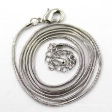 1.2mm Серебряная цепь змейки для ювелирных изделий ожерелья женщин людей