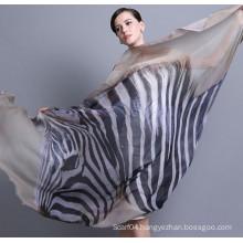Ladies funky digital print infinity modal shawl