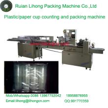 Lh-450 Copo de plástico descartável de quatro fileiras contando e máquina de empacotamento