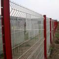 Cerco soldado verde revestido da rede de arame de aço do PVC