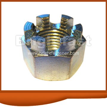 GB58 ANSI ASME DIN935 Color Zinc Hex Slotted Castle Nuts