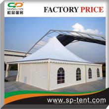 Ultra-Luxus-Zelt-Pagoden 14x14m mit halben Fensterwänden und halb-glatten Wänden