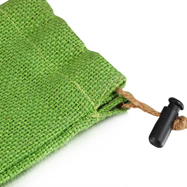 custom green linen bag