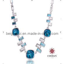 Sw Elements Crystal Indicolite Color Latest Model Fashion Necklace