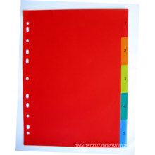 5 pages couleur PP Index diviseur (BJ-9027)