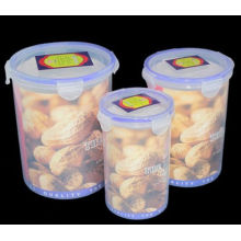Plastiknahrungsmittelbehälter 3PCS eingestellt