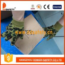 Camouflage Design Cotton Gloves Knit Wrist