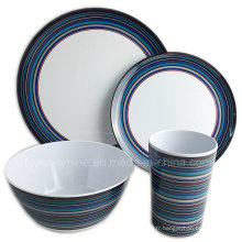 Ensemble extérieur de vaisselle de pique-nique de mélamine (TZ3506)
