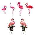 Característica Flamingos Birds DIY Parches bordados personalizados