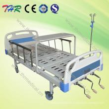Cama de hospital manual ajustable de tres funciones