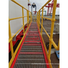 Jimu Hot DIP Galvanized Steel Grating Walkway with Painted/Galvanized Ball Joint Handrails