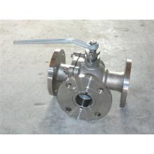 Трехходовой фланцевый шаровой кран Ss304 / 316 3шт.