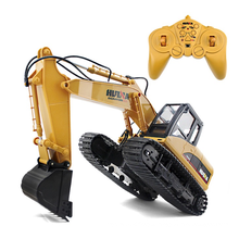 2.4G Toy vehicles 15 Channel Full Functional Professional RC Excavator with Crawler Kid Birthday Christmas Gift