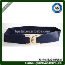 Moda Elegante Lady Wide Elastic Belt / Mulher Quente Quente Cintura De Couro Para Mulheres Vestido
