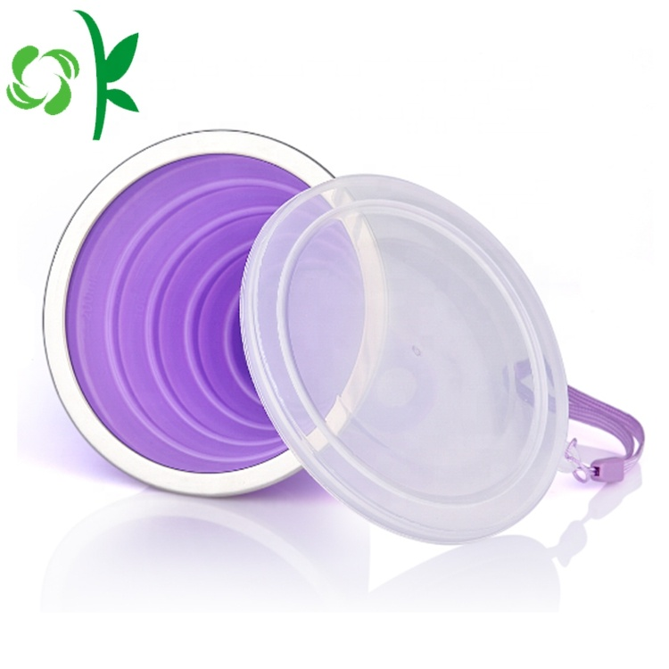 Silicone Folding Cup With String