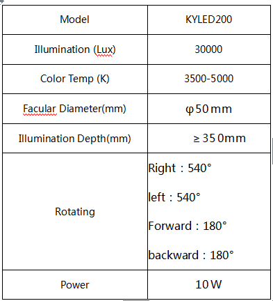 KYLED200 EXAM LIGHT