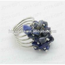 Anneaux de sodalite naturels ajustable puces sodalite pierres précieuses tissés anneaux d'amitié pour femmes et fille