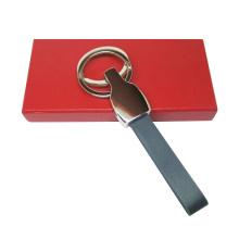 Рекламные подарки Металл кожаный брелок с логотипом (F3069)