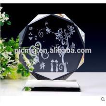 2015 пустой Кристалл стеклянный блок с 3D лазерная гравировка логотипа подарки и сувениры