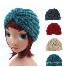 Children Kids Knitted Hat Cross Crochet Turban Bonnet Dome Winter India Cap Warm Hat (HW630)
