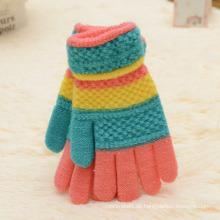 Mode Kinder Günstige Werbeartikel Gestrickte Winter Gestreifte Handschuhe