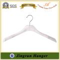 Heißer Verkauf 40CM weißer flacher Plastikaufhänger für Kleidung