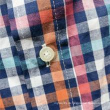 Online-Verkauf Langarm-Herren-Freizeithemden aus natürlicher Baumwolle