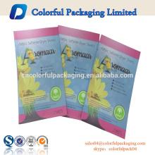 três lado selo de calor saco de máscara de três laterais selo zíper pequeno tamanho saco personalizado impresso malotes