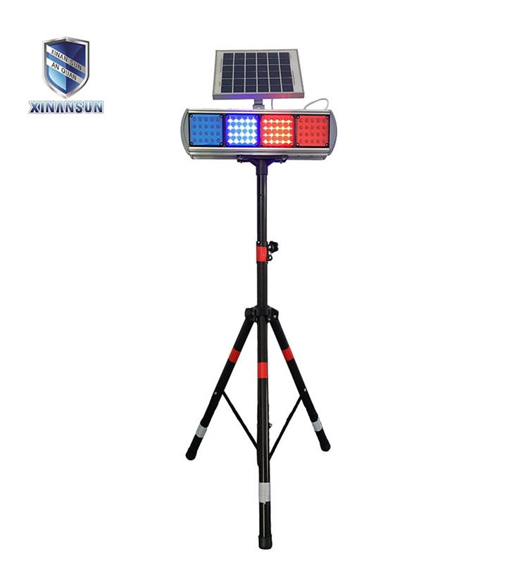 Two sides solar strobe light