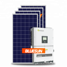 Bluesun 50kw 100kw 150k Sistema Solar en la salida de 400Vac trifásico del generador de la energía solar de la rejilla