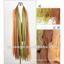 G&M-XLX120505 2016 latest fashionable modal two-tone color spring scarf and shawl