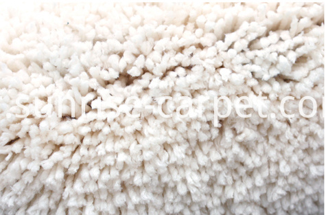 Microfiber Soft Shaggy Carpet Ivory Color