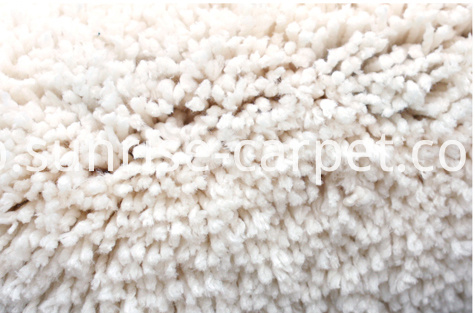 microfiber shaggy carpet ivory color