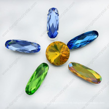 Kristall-Punkt-Rückseite lange ovale Perle (DZ-3014)