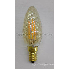 Gold Colored C35 Twisted 3.5W LED Filament Bulb