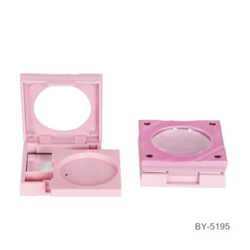 Fine Square Pink Compact Powder Case